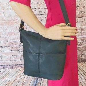 Coach Vintage Leather Bucket Crossbody Bag Vtg